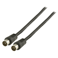 Valueline Antennkabel 2,0 m Svart Svart
