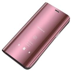 Xiaomi Redmi 9 Smart View Cover Fodral - Rosa Rosa