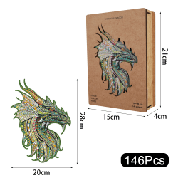 The Mysterious Dragon Elephant Wooden Puzzle Dragon