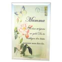 Värmeljushållare med text - Mamma
