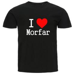 Barn T-shirt - I Love Morfar Black Storlek 110-120