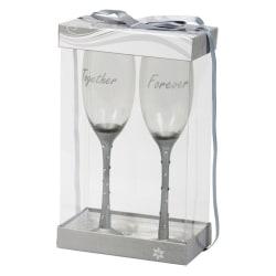 Champagneglas med strass - Together Forever
