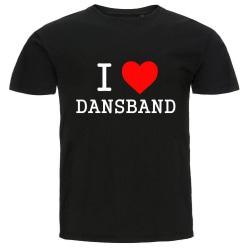 T-shirt - I Love Dansband Black S