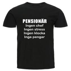 T-shirt - Pensionär, Inga pengar Black L