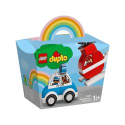 LEGO® DUPLO® Brandhelikopter och polisbil 10957 multifärg