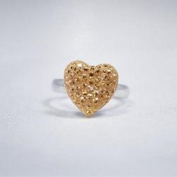 Busy Lizzie Ring Sparkle Hjärta Guld