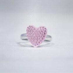 Busy Lizzie Ring Sparkle Hjärta Rosa