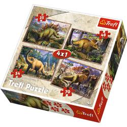 Trefl Dinosaurier Pussel 4-i-1 34249
