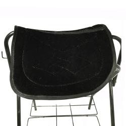 Dubbel sadelplatta ryttartillbehör svart liten