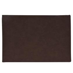 Underlägg Läderlook mörkbrun 43x30 cm 4-pack Mörkbrun