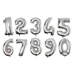 Ballong Siffror 75cm silver siffra 3 Silver one size