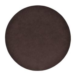 Underlägg Läderlook rund mörkbrun 4-pack Mörkbrun