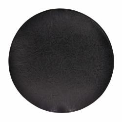 Underlägg Läder/skinnlook svart Runda 4-pack Tablett multifärg one size