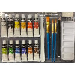 Målarset Akryl 12 färger multifärg
