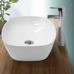 ECD Germany tvättställ tvättställ - 505x385x135 mm - av keramik Vit