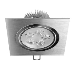 ECD Germany 2-pack LED infälld ljus 5W 230V - Vinkel 120 x 120