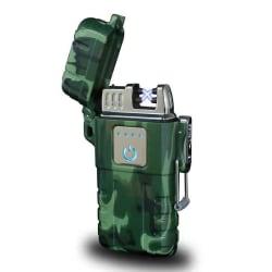 ArcLighter vattentät uppladdningsbar USB-tändare, camo grön