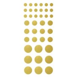 156 Mini klistermärken guld och silver 7-17 mm silver