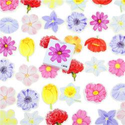 45 st/förp olika blommor klistermärken