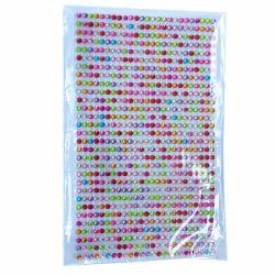 646 Självhäftande rhinestones strass flerfärgad flerfärgad