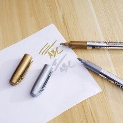 Metallisk vattentät permanent penna guld