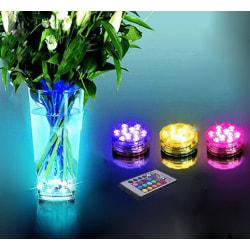 RGB LED lampa med fjärrkontroll vattentät