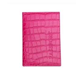 Passfodral | Rosa crocodile rosa