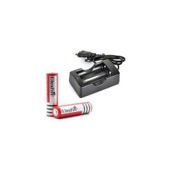 Laddare + 2st Ultrafire 18650 batterier 4200mAh 3.7V