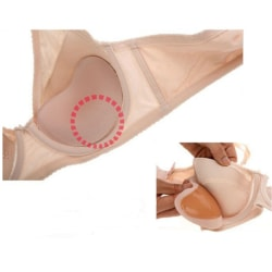 2-pack silikoninlägg till BH/Bikini. beige