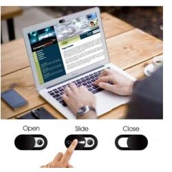 3-Pack Webcam skydd   Passar till datorer, surfplattor, mobiler Svart