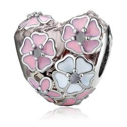 Blomhjärta -  passar till Pandora armband