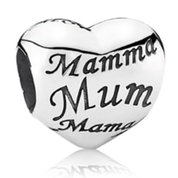 Mammahjärta -  passar till Pandora armband