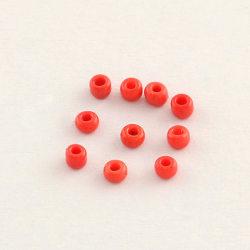 320 st Opaque Deep Red Glaspärlor Seed Beads 6/0 30g
