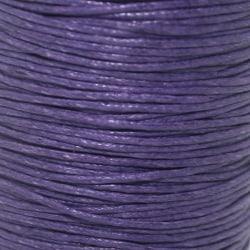 5 meter Vaxad Tråd lila1mm