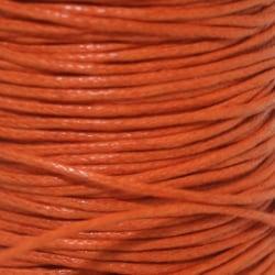 5 meter Vaxad Tråd Orange1mm Wax Cord