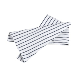 Bastian  Hampton handduk smala ränder vit/blå  2-pack 70x50 cm