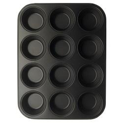 GastroMax Muffinsform 12 st  grå