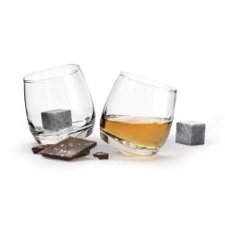 Sagaform Giftset Club whiskeyglas & whiskey stenar Transparent