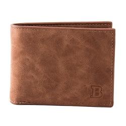 Mjuk smidig plånbok med myntfack - Brun Brun