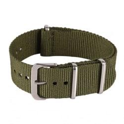 Klockarmband Natoband / nylonband 20 mm olika färger Oliv