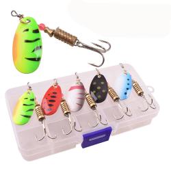 5-pack Spinnare 65 mm - Blandade färger med låda