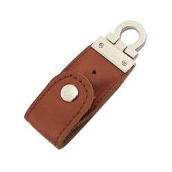 USB-minne 16 GB Nyckelring Läder / Metall - Olika färger Brun