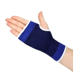 Elastiska handledsskydd / handledsstöd 2-pack Blå