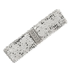 Brett elastiskt bälte med paljetter i guld, silver, svart eller  Silver