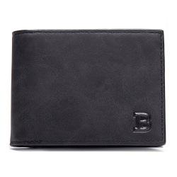 Mjuk smidig plånbok med myntfack – Svart Svart