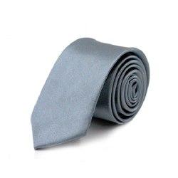 Smal / slimmad enfärgad slips - Olika färger Grå