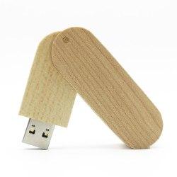 USB-minne 16 GB Träbit - Flera färger Ljusbrun