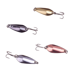 4-pack Skeddrag Small 35 mm - Silver / guld / brons / svart