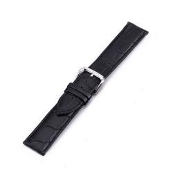 Klockarmband i läder 20 mm - Olika färger Svart