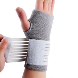 Stabilt handledsskydd med kardborre Grå